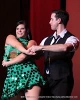 Kayla Goad LeVan and Matt Stewart danced a steamy Cha-Cha