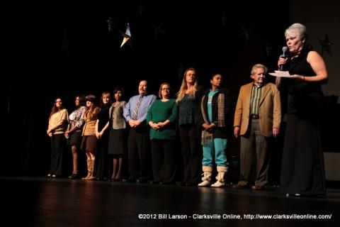 The Scholarship Winners with Mac Eddington and Judy Hammerstein