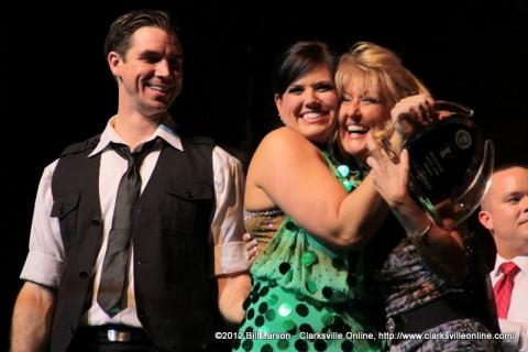 This years winners Pro Matt Stewart and Kayla Goad LeVan with Sandra Ford
