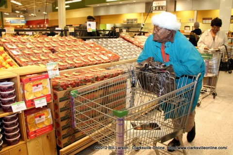 Shopping in the produce section