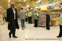 Rev. Jimmy Terry from Tabernacle Baptist Church inspects the new Publix store