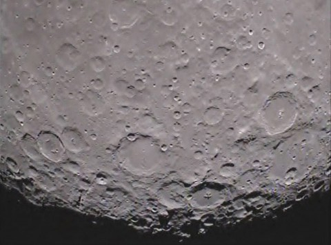 South pole of the far side of the moon as seen from the GRAIL mission's Ebb spacecraft. (Image credit: NASA/Caltech-JPL)