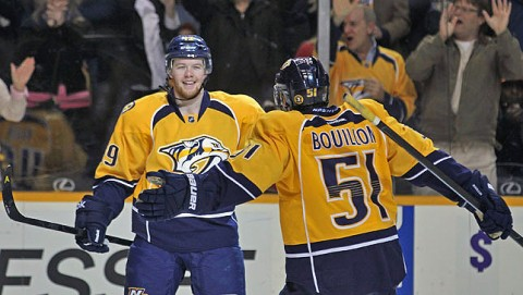 Nashville Predators snap winless streak Tuesday night. (Nashville Predators)