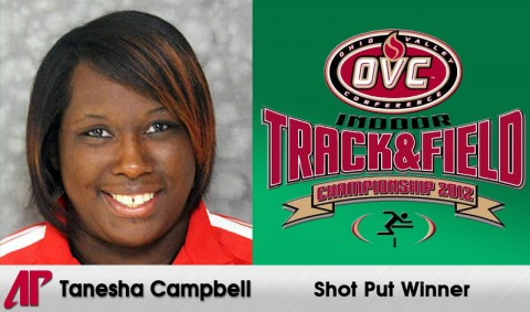 Tanesha Campbell wins OVC Indoor Championships Shot Put