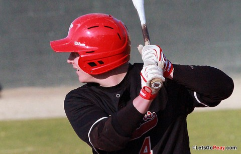 Sophomore second baseman Jordan Hankins hit a two run triple in the fifth inning and then added a two run double in the sixth inning to spark the Governors to victory. Austin Peay Baseball. (Courtesy: Brittney Sparn/APSU Sports Information)