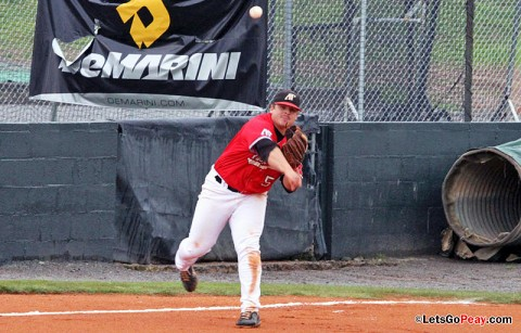 Senior third baseman Greg Bachman had two home runs and four RBI in the Govs 14-4 victory against Akron, Sunday. Austin Peay Men's Baseball. (Courtesy: Austin Peay Sports Information)