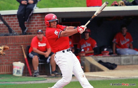 Catcher P.J. Torres' fourth-inning sacrifice fly gave the Govs a two-run lead, but they could not hold on in Tuesday's loss at Memphis. Austin Peay Men's Baseball. (Courtesy: Austin Peay Sports Information)