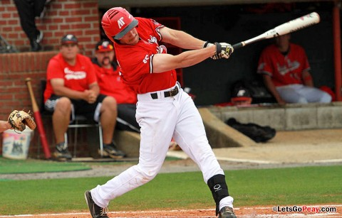 Junior Cody Hudson led the Govs with a 2-for-5 outing in Sunday's loss at Ohio State. Austin Peay Baseball. (Courtesy: Austin Peay Sports Information)
