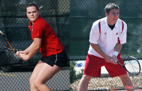 Austin Peay Men and Women's Tennis. (Courtesy: Austin Peay Sports Information)