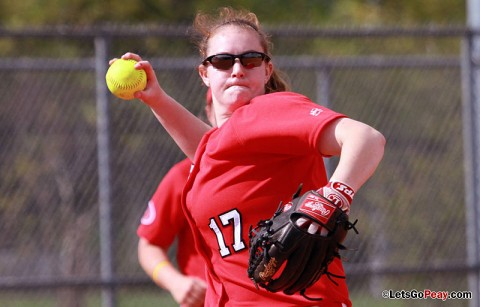 Junior Morgan Brewer picked up her fourth career shutout with 6-0 win over Tennessee State. Morgan also pitched a carreer high 10 strikeouts. Austin Peay Softball. (Courtesy: Austin Peay Sports Information)