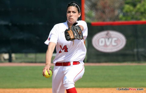 Sophomore Lauren de Castro picked up her third win on Friday. Austin Peay Women's Softball. (Courtesy: Austin Peay Sports Information)