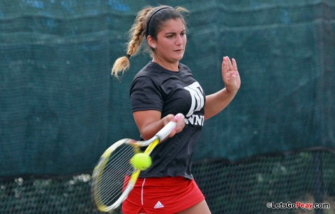 Austin Peay Women's Tennis. (Courtesy: Brittney Sparn/APSU Sports Information)