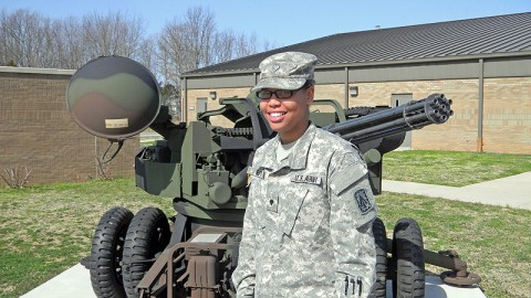 Spc. Kannesha Nept, a supply sergeant with the 2-44th Air Defense Artillery Regiment, 101st Sustainment Brigade, is being recognized her volunteer efforts with Big Brothers Big Sisters of Clarksville Tennessee. (Courtesy Photo)