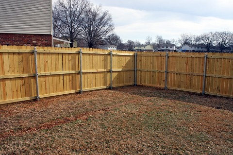 Privacy fences like these will be installed in the Pierce Village Neighborhood starting today.