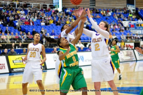 Tiasha Gray and Jessy Ward stun Memphis Central with their double team for the steal.