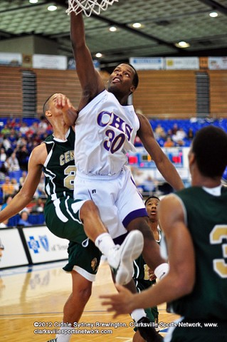 Clarksville High's Tevin Majors puts it in for two. The Wildcats finished their season with a good fight, but lost to Memphis Central 68-62.