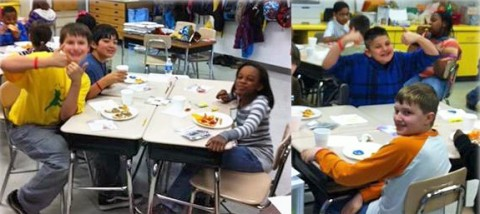 Ms. Hall's class raised the most money for the Humane Society and won the pizza party.