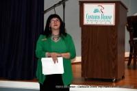 Terri Jordan introduces one of the speakers