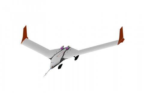 Artist's rendering of X-56A MUTT aircraft. (AFRL/Lockheed image)
