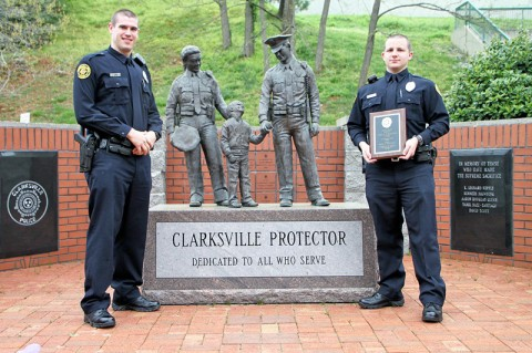 (L to R) Officers, Adam Post and Jordan Parnell.