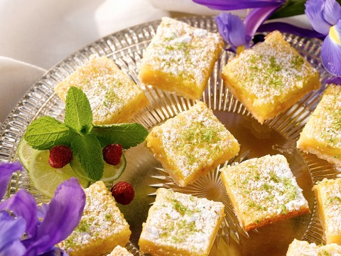 Key Lime and Macadamia Bars
