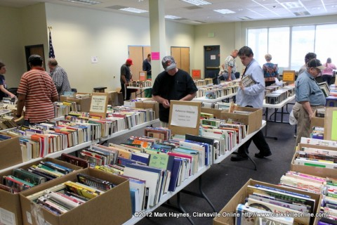 There was a good turn out for the Friends of the Library book sale Saturday.