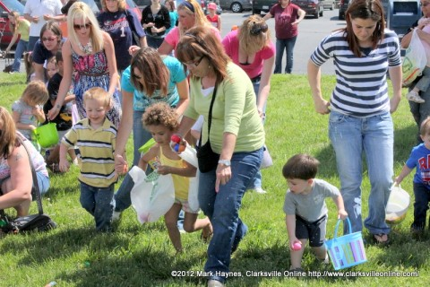 There was a large turnout to Hilltop Supermarket's 17th Annual Easter Egg Hunt Saturday.