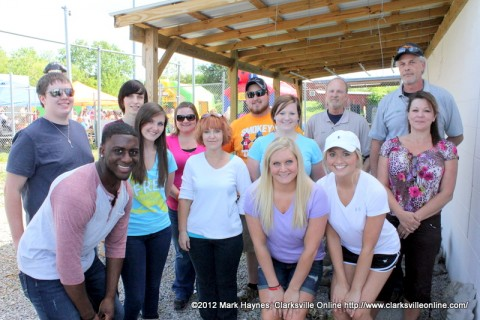 Hilltop Super Market employees and Montgomery Central students that helped with the event.
