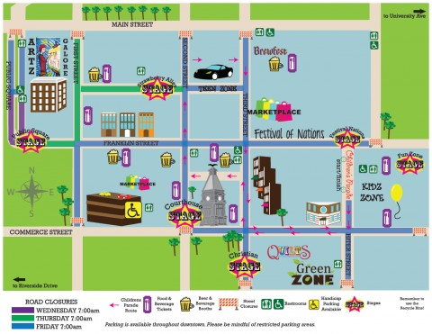 2012 Rivers and Spires Festival Map