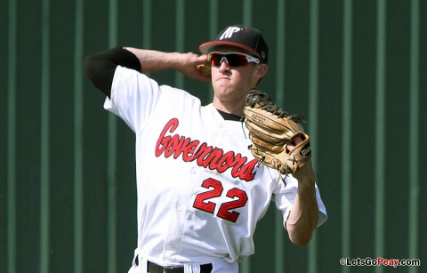 Left fielder Cody Hudson's two-out RBI single gave Austin Peay a Game 1 victory at Eastern Illinois Panthers, Saturday. Austin Peay Baseball. (Courtesy: Brittney Sparn/APSU Sports Information)