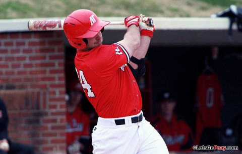 Senior first baseman Tyler Childress' walk-off home run helped Austin Peay post a 9-8 victory against Murray State, Saturday. Austin Peay Baseball. (Courtesy: Brittney Sparn/APSU Sports Information)