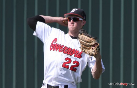 Left fielder Cody Hudson notched his season's sixth home run in Sunday's loss to Jacksonville State. Austin Peay Baseball. (Courtesy: Brittney Sparn/APSU Sports Information)