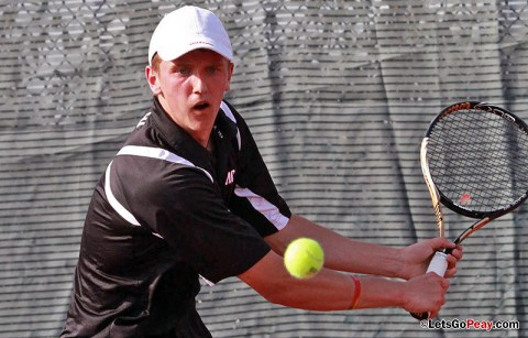 Austin Peay Men's Tennis. (Courtesy: Brittney Sparn/APSU Sports Information)