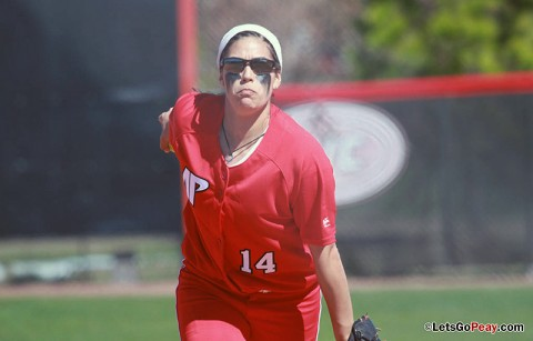 Sophomore Lauren de Castro pitched a two-hit shutout, while picking up four hits in sweep of Alabama A&M Lady Bulldogs. Austin Peay Softball. (Courtesy: Austin Peay Sports Information)