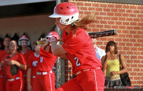 Senior Catie Cozart's RBI double proved to be game-winner versus Evansville. Austin Peay Softball. (Courtesy: Brittney Sparn/APSU Sports Information)