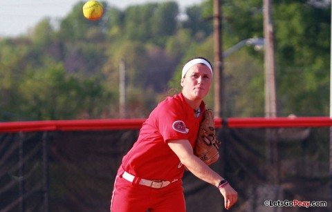 Freshman Paige Neely had five hits, including the game-winner in the opening game, versus Jacksonville State. Austin Peay Softball. (Courtesy: Brittney Sparn/APSU Sports Information)