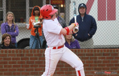 Sophomore Kayla Davidson's first-inning grand slam gave the Lady Govs a 5-0 lead on their way to a 5-3 victory over Jacksonville State. Austin Peay Softball. (Courtesy: Brittney Sparn/APSU Sports Information)