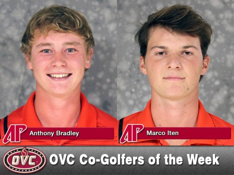 Anthony Bradley and Marco Iten named Ohio Valley Conference Co-Golfers of the Week