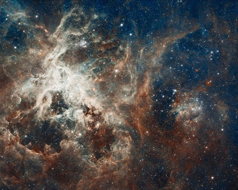 The image comprises one of the largest mosaics ever assembled from Hubble photos and includes observations taken by Hubble's Wide Field Camera 3 and Advanced Camera for Surveys. Hubble made the observations in October 2011. (Credit: NASA, ESA, D. Lennon and E. Sabbi (ESA/STScI))