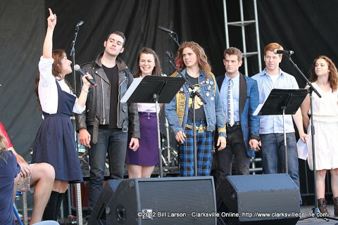 A Performance by the Roxy Regional Theatre opened the 2012 Rivers and Spires Celebration