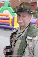A Scoutmaster at the Boy Scouts Booth