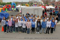 41 kids from the Cumberland Heights Elementary School who were about to perform on the Lovey's FunTastic Kids Show Stage