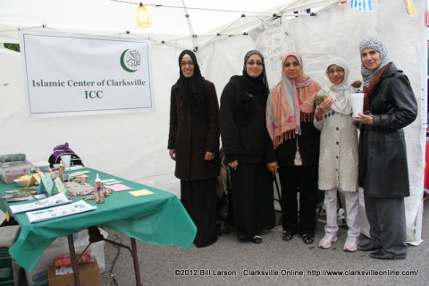 The Islamic Center of Clarksville booth