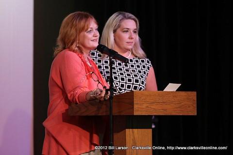 Lynne Waters Griffey and Leslie Stuard Announcing the Sandra Stuard Hewitt Memorial Fund