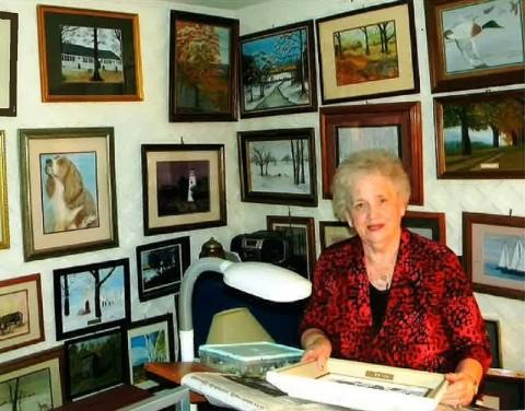 Planters Bank, Hilldale branch, April First Thursday Art Exhibit features paintings by Lucille Richardson.