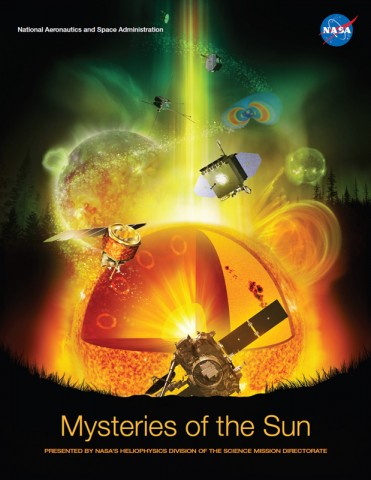 Cover from Mysteries of the Sun book. (Credit: NASA/Jenny Mottar)