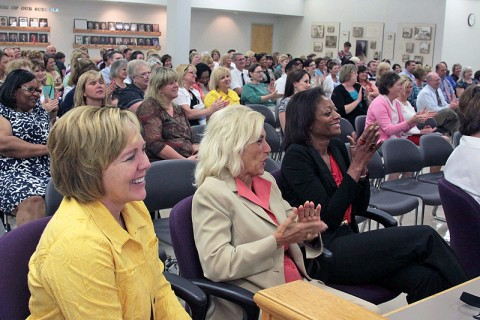About 150 CMCSS administrators, staff and members of the School Board were on hand Wednesday afternoon to listen to the report.
