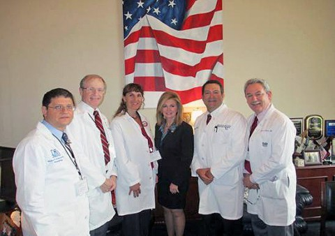 Representative Marsha Blackburn with Doctor Mark Green and other doctors with Doctors for Patients Care