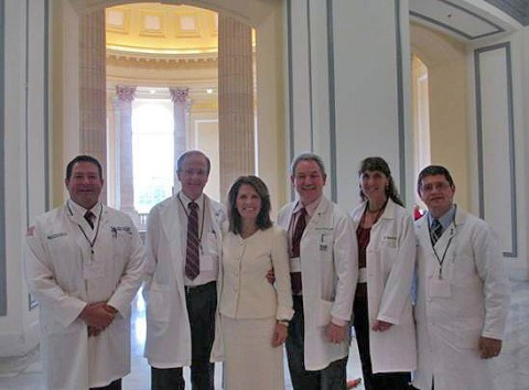 Representative Michele Bachmann with Doctor Mark Green and other doctors with Doctors for Patients Care
