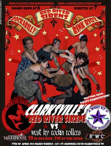 "Red River Sirens Roller Derby Presents ""Rockabilly Rink Riot"""